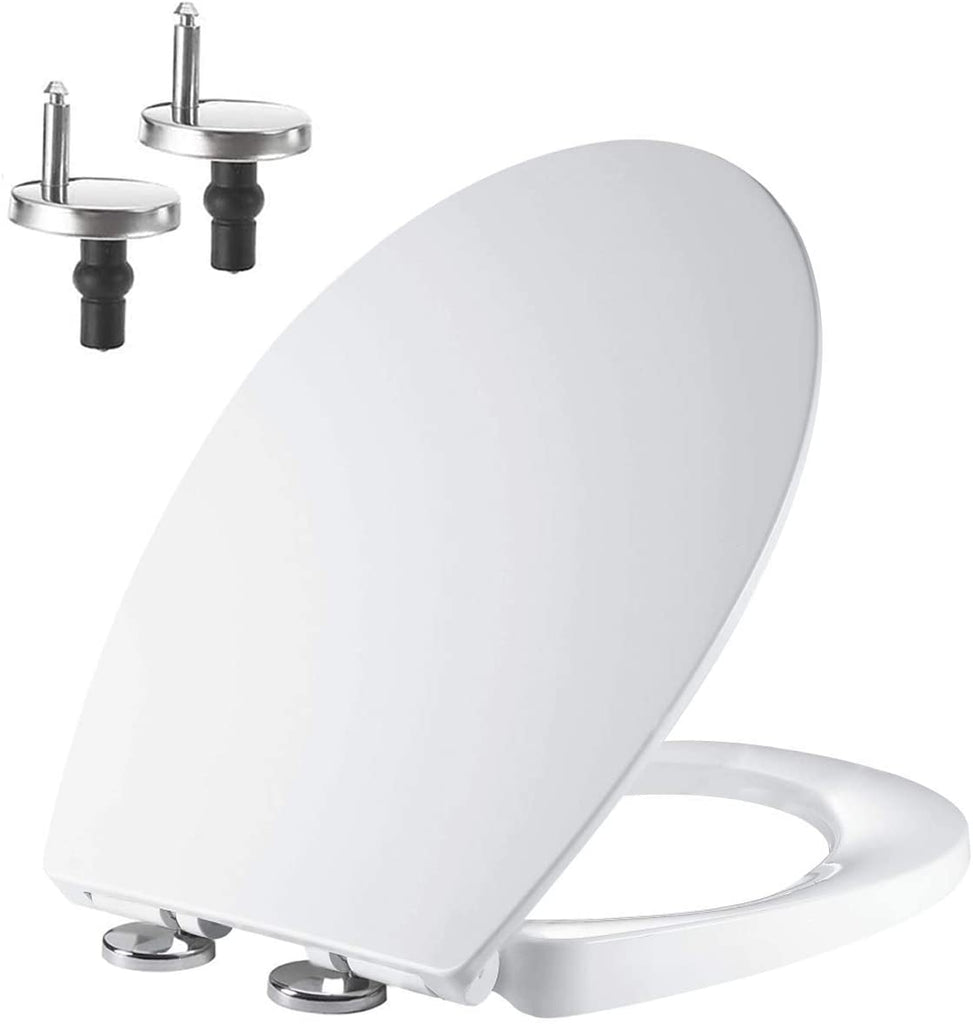 Picture of: Soft Close Toilet Seat With Quick Release Top Bottom Fixing Hinges Oval Shape Pp Mass Dynamic Limited