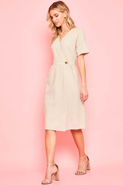 The Wendy Dress in Taupe