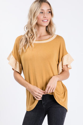 The Rebecca Top in Mustard II