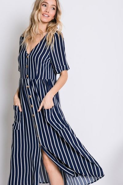 The Stella Dress in Navy