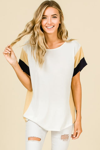 The Robyn Top in Ivory