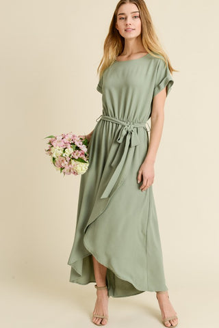 The Marin Dress in Sage