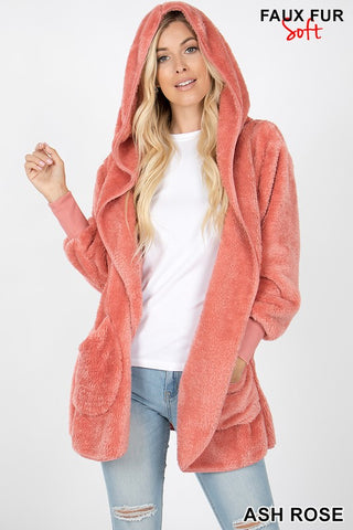 The Cocoon Jacket in Ash Rose