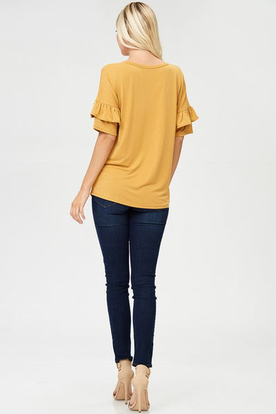 The Rebecca Top in Mustard