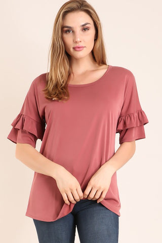 The Rebecca Top in Mauve