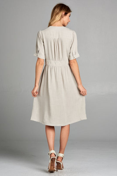 The London Dress in Sage