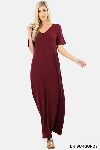 The Kelsie Dress in Drk Burgundy - Plus size