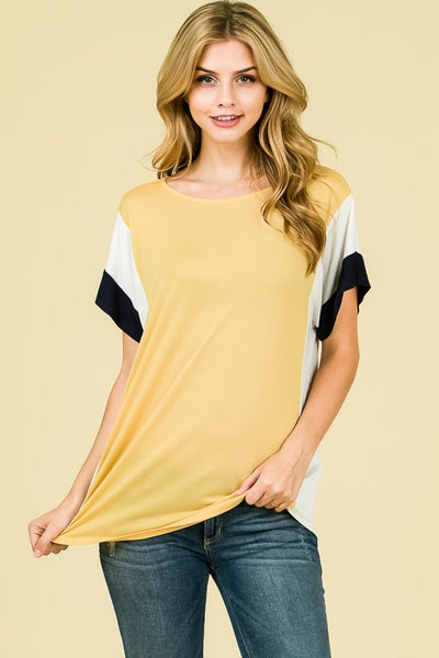 The Robyn Top in Mustard