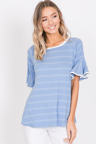 The Liv top in Blue