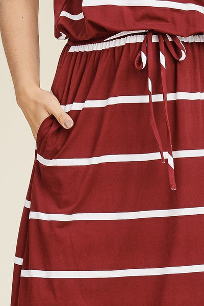 The Sally Dress in Wine