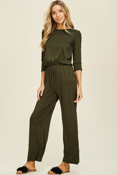 The Body Suit in Olive Curvy