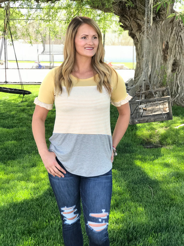 The Lindsay Top in Mustard