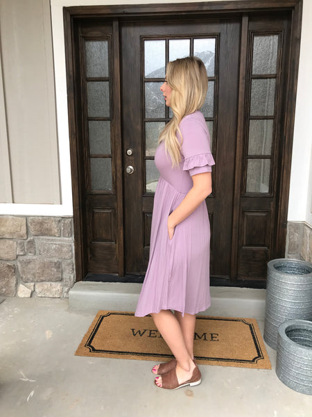 The Lucy II Dress in Mauve
