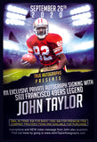 AUTOGRAPHED ROOKIE CARD FOR JOHN TAYLOR PRIVATE AUTOGRAPH SIGNING SEPTEMBER 26TH, 2020