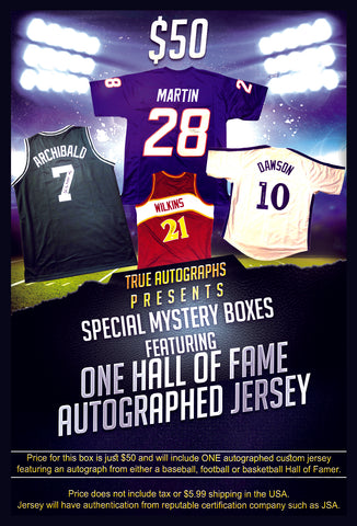 THE MYSTERY $50 HALL OF FAMER AUTOGRAPH JERSEY SALE!