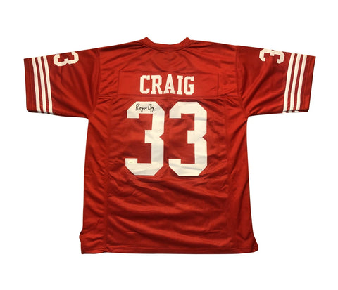 ROGER CRAIG AUTOGRAPHED CUSTOM RED JERSEY (JSA AUTHENTICATED)