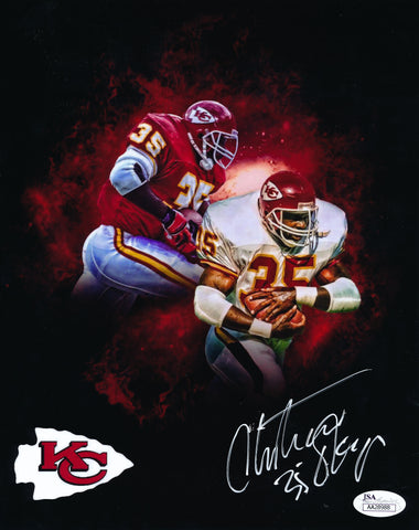 CHRISTIAN OKOYE AUTOGRAPHED 8X10 PHOTO JSA AUTHENTICATED (DUAL IMAGE)