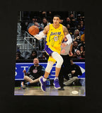 KYLE KUZMA AUTOGRAPHED 11X14 PHOTO LOS ANGELES LAKERS - YELLOW (JSA SD COA)