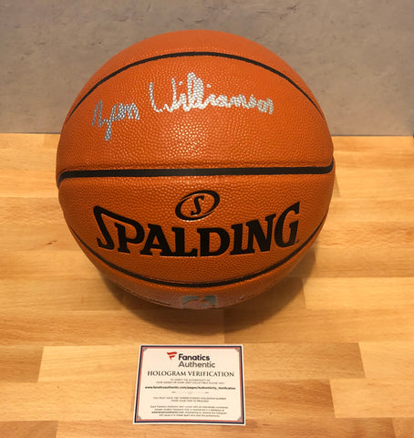 ZION WILLIAMSON AUTOGRAPHED NBA I/O BASKETBALL - FANATICS AUTHENTICATED