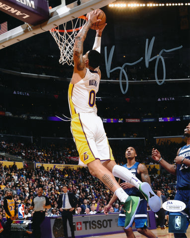 KYLE KUZMA AUTOGRAPHED 8x10 PHOTO LOS ANGELES LAKERS - WHITE (JSA SD COA)