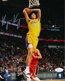 KYLE KUZMA AUTOGRAPHED 8x10 PHOTO LOS ANGELES LAKERS - YELLOW (JSA SD COA)