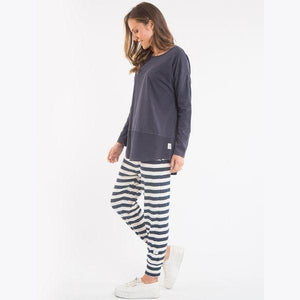 Elm Fundamental Rib Long Sleeve Tee | Navy-Elm Lifestyle-Silvermaple Boutique