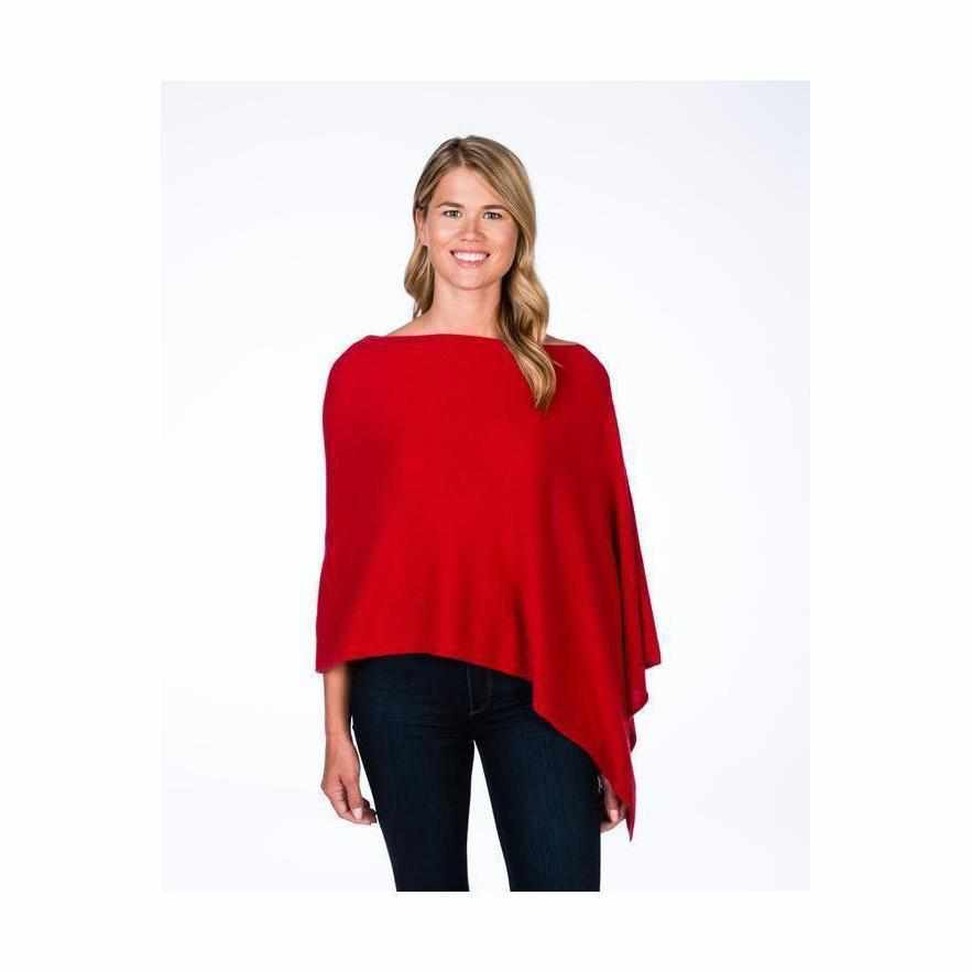 Esperance & Co Cashmere Topper | Crimson - Silvermaple Boutique