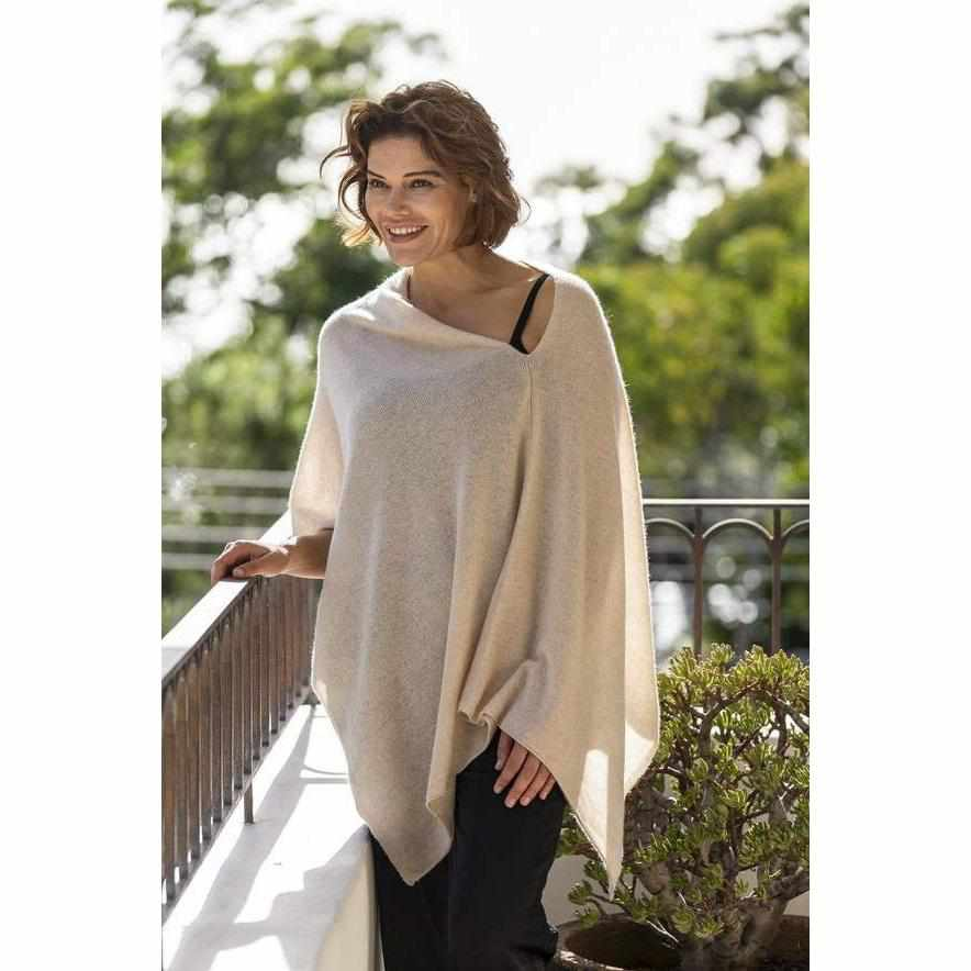 Esperance & Co Cashmere Topper | Dune - Silvermaple Boutique