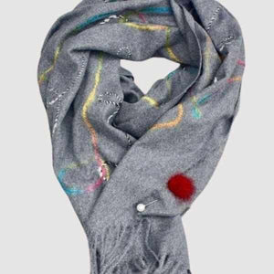 Fur Detail Scarf Pin-Silvermaple Boutique-Silvermaple Boutique