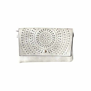 Punched Foldover Clutch - Silvermaple Boutique