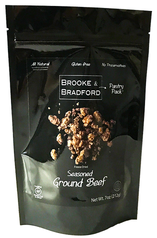 brooke & bradford pantry pack seasoned ground beef