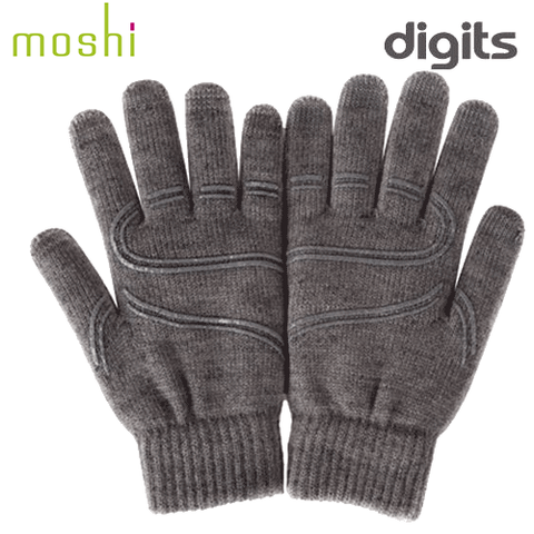Moshi Digits Touchscreen Gloves - Large Grey