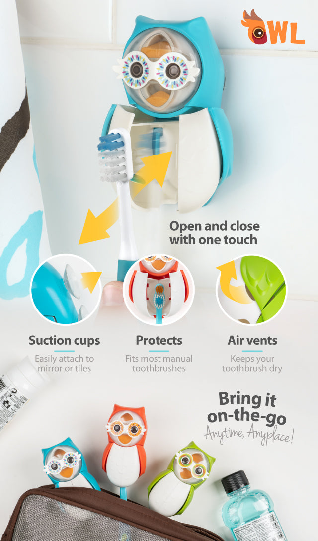 Owl Smarty toothbrush cover product benefits