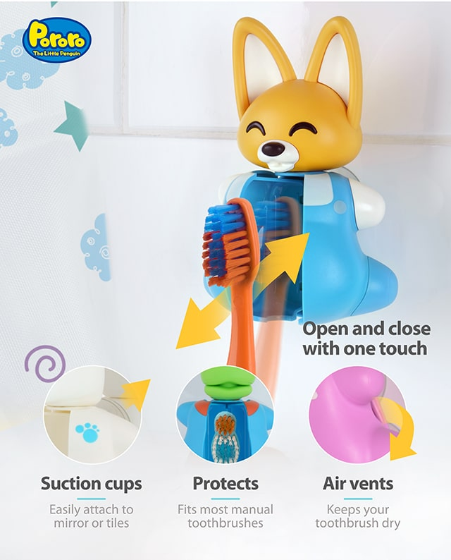 Pororo Eddy toothbrush cover product benefits