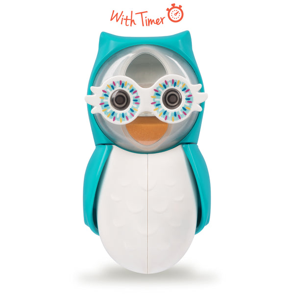 Flipper Owl | Smarty | Toothbrush Cover with Sand Timer