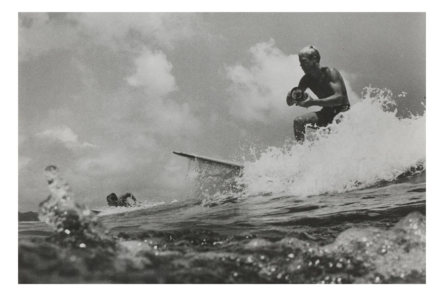 Bruce Brown A4 B/W Surfing Action