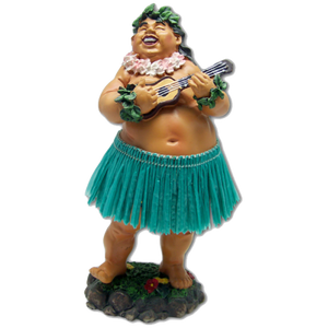 """Bradda Ed"" Hawaiian Dashboard Hula Doll - Green"