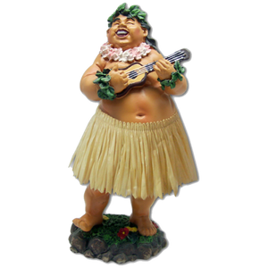 """Bradda Ed"" Hawaiian Dashboard Hula Doll"