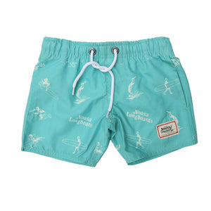Kids Green Decal Swim Trunk