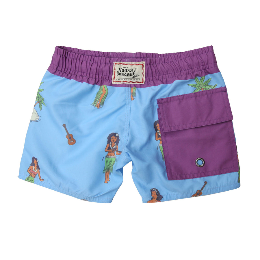 Kids NL Blue Hula Swim Trunk