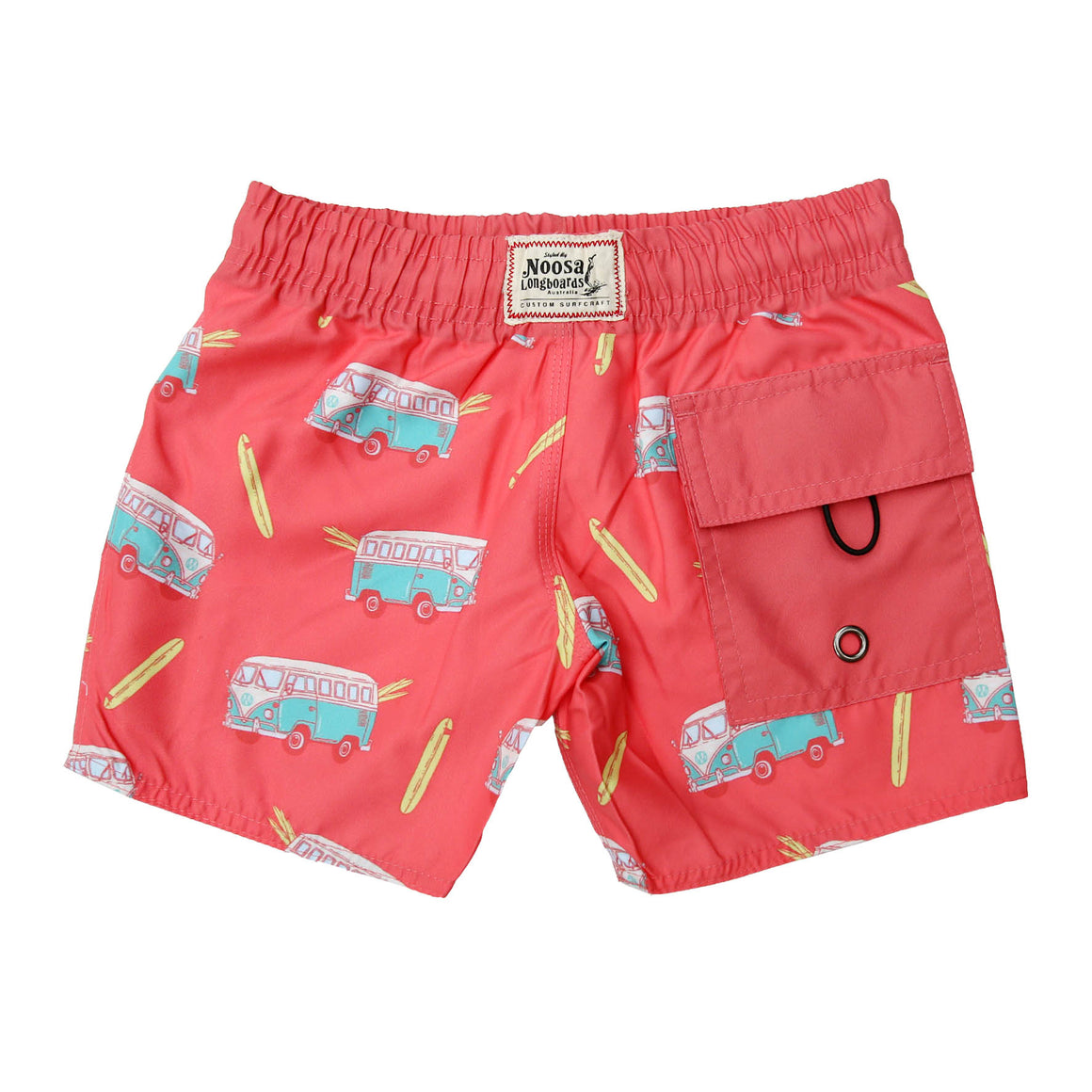 Kids Red Kombi Swim Trunk