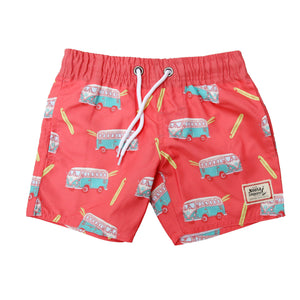Kids NL Red Kombi Swim Trunk