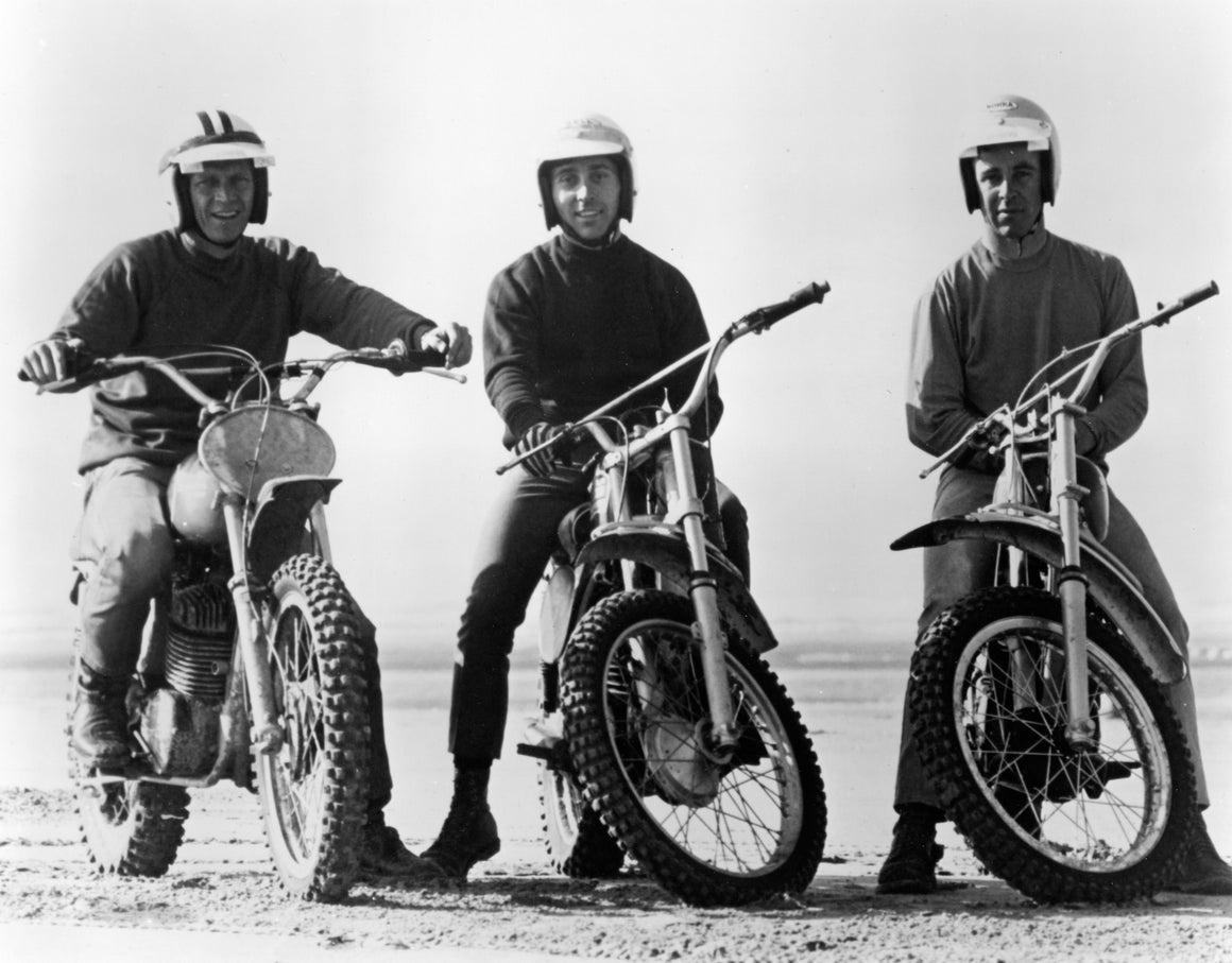 On Any Sunday Steve McQueen, Mert Lawwill, Malcolm Smith