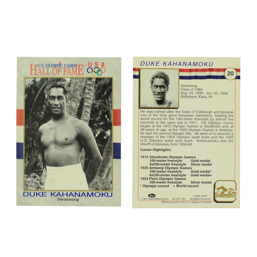 Duke Kahanamoku Olympic Card Collectible