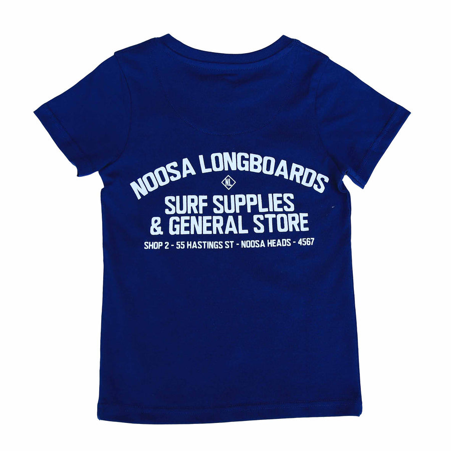 Kids Address Tee Navy