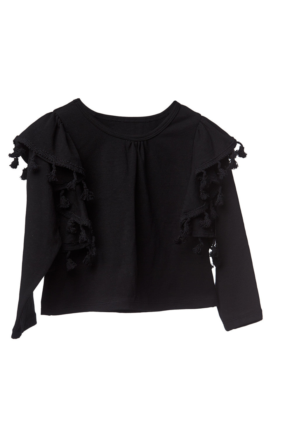 AW17 Mii love Mu Wing Top Black