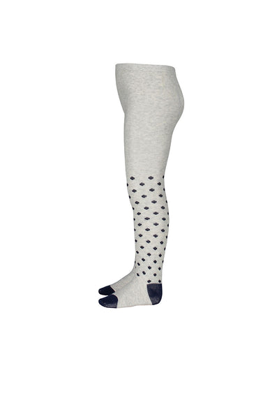 Jacquard Tights - Silver Marle