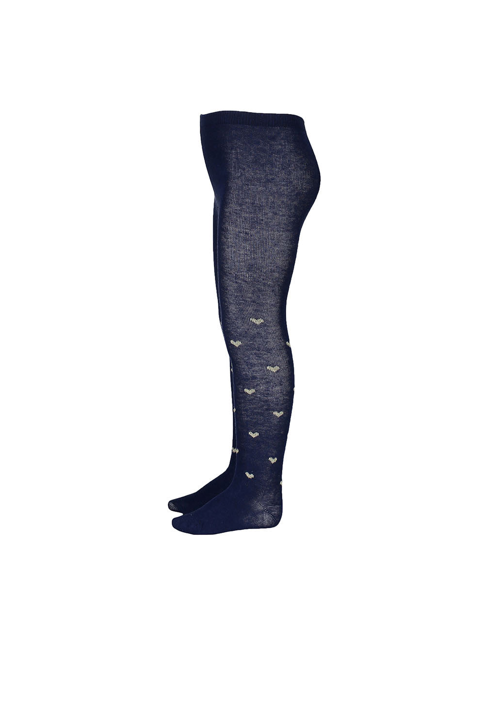 Jacquard Tights - Peacoat Spot