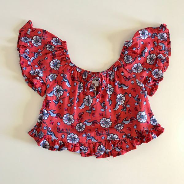 Gypsy Top - Red Floral