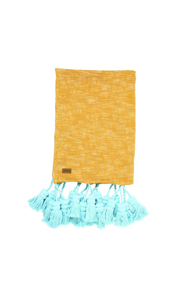 AW17 KIP&CO SEA GLOW TASSEL THROW